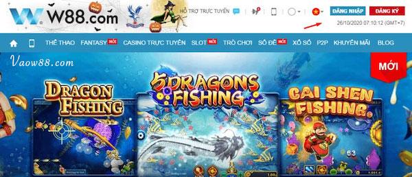 Một số thể loại game bắn cá online tại nhà cái W88