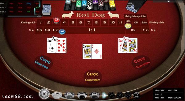 Tìm hiểu kỹ luật chơi bài Red dog của nhà cái trực tuyến W88