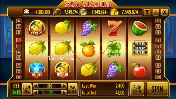 Slot machine dễ chơi dễ thắng