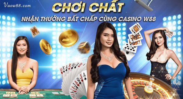 Nhận thưởng khi tham gia casino tại w88