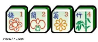 Bộ Hoa Đỏ Mai – Lan – Cúc – Trúc