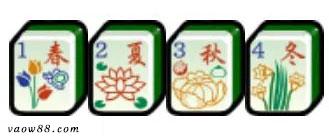 Bộ Hoa Xanh Xuân – Hạ – Thu – Đông