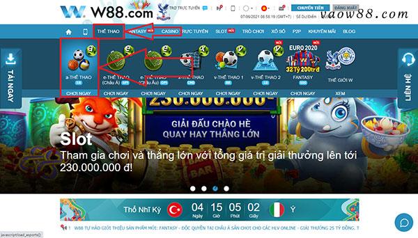Cách vào chơi Number Game tại trang chủ nhà cái W88.com