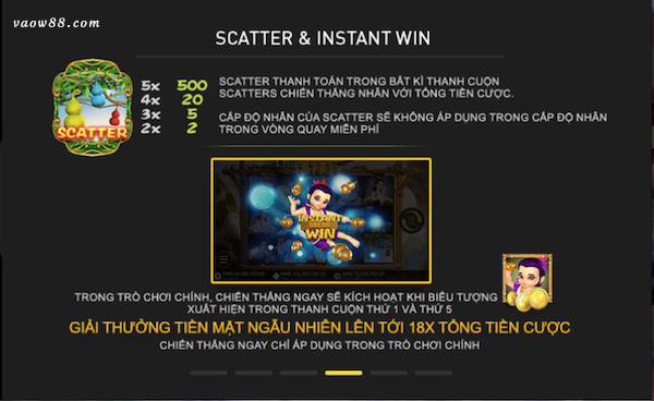 Tính năng scatter & Instant Win