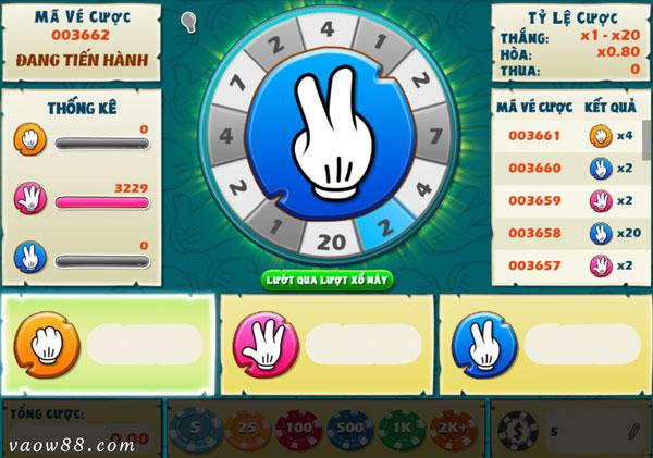 Tìm hiểu quy tắc chơi game oẳn tù tì online tại nhà cái W88