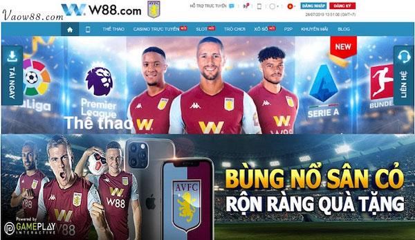 W88-Tham gia cá cược bóng đá nhận ngay ưu đãi hấp dẫn.