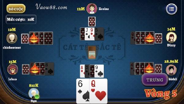 Cách chơi bài Catte vòng 5