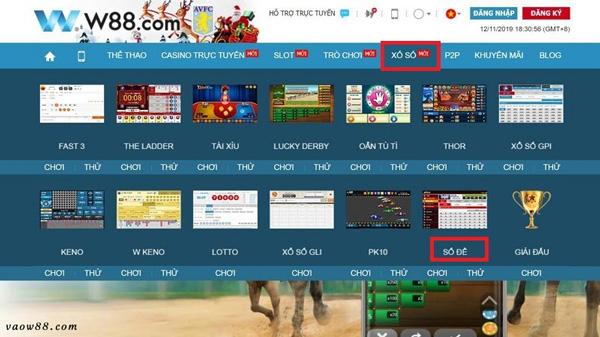 Hướng dẫn truy cập vào game số đề online tại trang chủ nhà cái W88