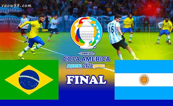 Soi kèo nhà cái trận Argentina vs Brazil 7h ngày 11/07/2021