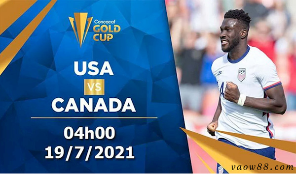 soi kèo nhà cái trận Mỹ vs Canada 04h00 ngày 19/07/2021 tại W88