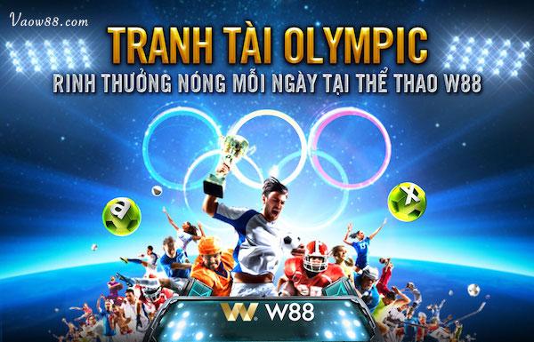 Tranh tài Olympic cùng W88
