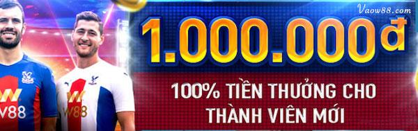 100% tiền thưởng cho thành viên mới