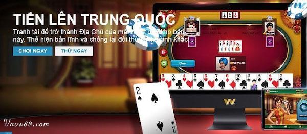 Chọn Game Tiến lên Trung Quốc để chơi