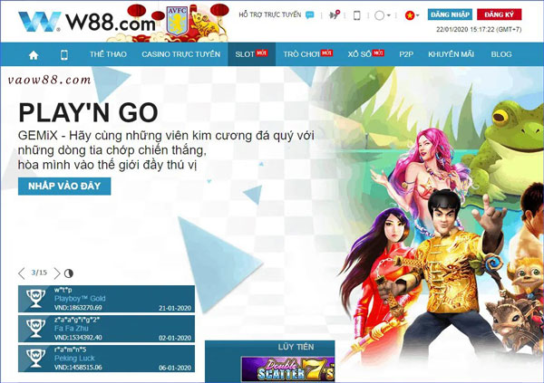 Các dịch vụ và sản phẩm cá cược, cá độ tại nhà cái trực tuyến W88