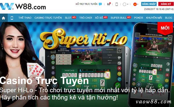 W88 Live Casio với kho game trực tuyến siêu hấp dẫn
