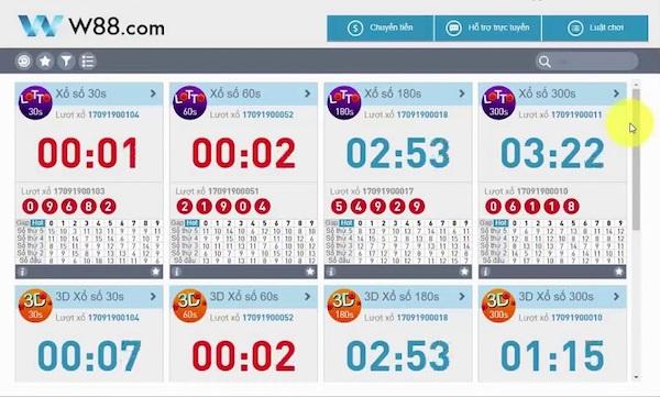 Giới thiệu game Lotto tại nhà cái W88