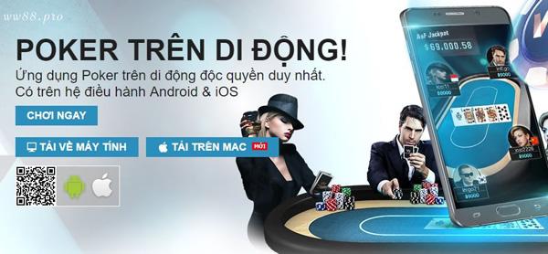Chơi Poker online trên ứng dụng W88 cực mượt