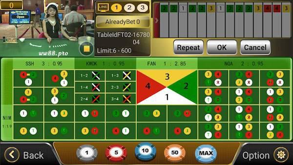Trò chơi xổ số Fantan trực tuyến